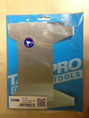 Tapepro Flat Box 200mm to 140mm Reducer Plate, RP-200.