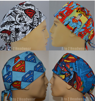 DC Comics Superman Man of Steel Collection Unisex Surgical Scrub Hat Chemo Cap