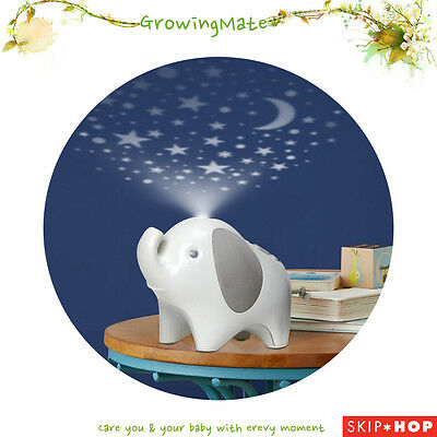 Skip Hop Moonlight & Melodies Nightlight Soother Elephant Star Projector USB