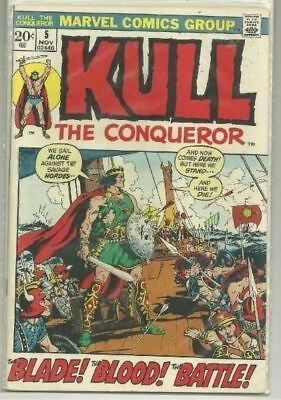 Kull The Conqueror #5 Marvel (1972) Bronze Age Comic Book FN-/FN+