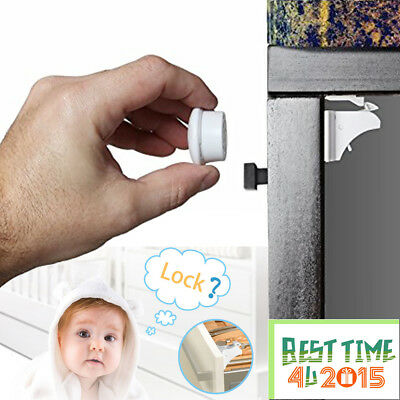 Invisible Magnetic Baby Child Pet Proof Cupboard Door Drawer Safety Lock UK