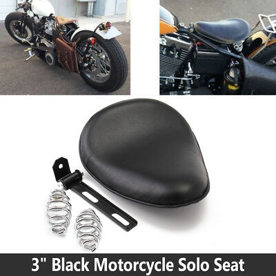 3''Leather Motorcycle Spring Solo Bracket Cushion Seat For Harley Chopper Bobber