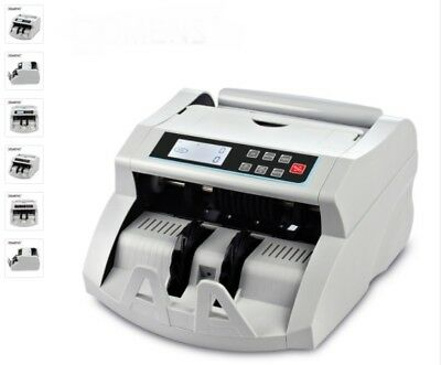 Money Counter Automatic UV+MG+IR+DD Detecting Cash Machine Multi-Currency Bill