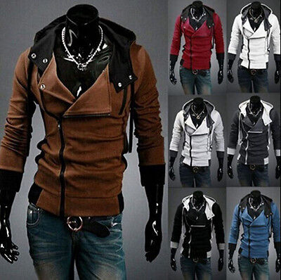 Hot Stylish Creed Hoodie Cool Slim men's Cosplay For Assassins Jacket Costume UK