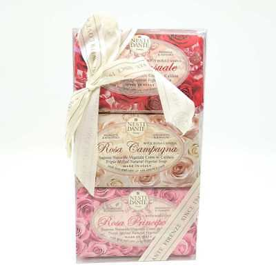 Kit 3 saponette vegetali Nesti Dante Firenze Rosa Soap Made in Italy