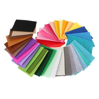 40 pcs 10x15cm Polyester Felt Fabric Cloth Thickness Handmade Sewing Home Decor
