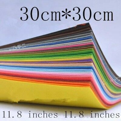 40 colors 30X30cm Felt Fabric Polyester Non-woven Felt 1 MM Thickness Handmade