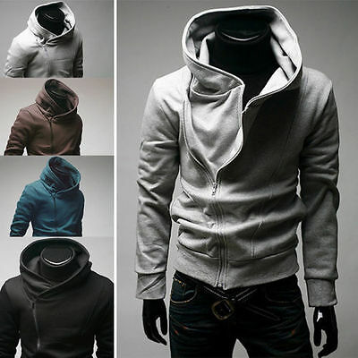 Mens Cool Stylish Creed Hoodie Cool Slim Cosplay For Assassins Jacket Costume UK