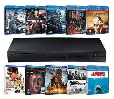 Samsung BD-J5500 Blu-ray Player + 10 Blu-rays (Limited Edition Zoom Exclusive