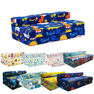 Childrens Kids Double Folding Z Chair Bed Mattress Sofa Bed BLACK FRIDAY DEALS