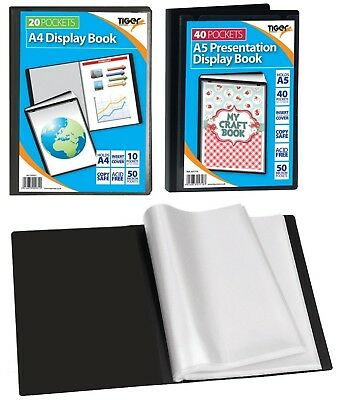 Presentation Display Book Portfolio Folder With Front Pocket  A5 A4 20 40 Pocket