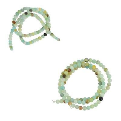4mm Natural Charm Amazonite Gemstone Colored Loose Spacer Beads 15'' Strand Bead