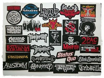 Heavy Metal Punk Rock Black Rapper Music Band Patch Sew Iron On Embroidered DIY