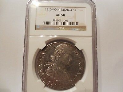1810 Mo HJ 8 Reales Mexico NGC AU58 This is an MS COIN! Lustrous Amazing Strike