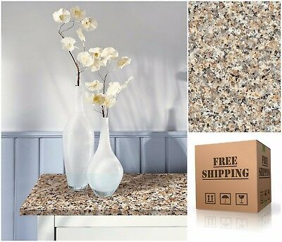 Decorative Self-Adhesive Film, Brown Granite Countertop Vinyl Contact Paper