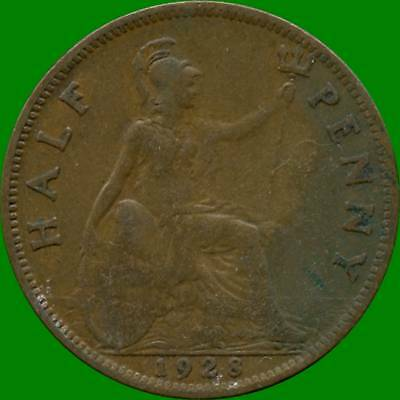 1928 1943 1944 1944 & 1945 Great Britain 1/2 Pennies