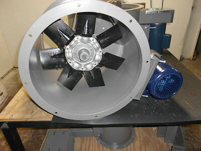 """18"""" Dia Tube Axial Exhaust Fan For Paint Spray Booth"""