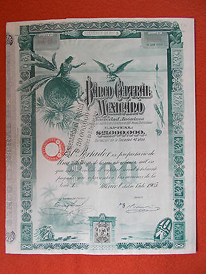 Altes Wertpapier Banco Central Mexicano
