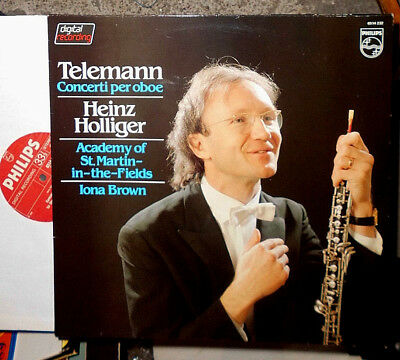 Telemann Concerti Per Oboe Heinz Holliger Iona Brown St Martin-In-The-Fields Lp