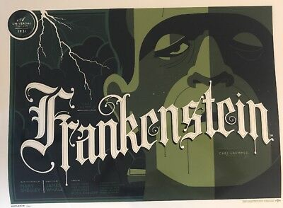 "Tom Whalen Universal Classic Monsters ""Frankenstein"" Print Signed Artist Proof"