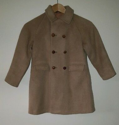 Beautiful vintage Childs Wool Coat Made by tailorware england Size 7/8 Yrs 630