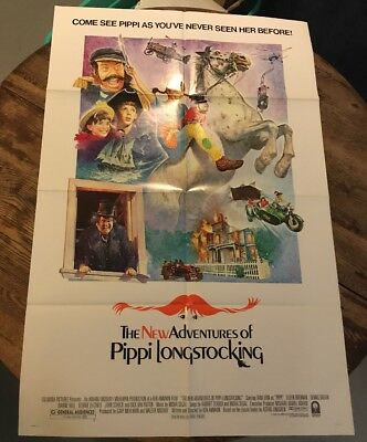 The New Adventures Of Pippi Longstocking 1988 Original Movie Poster Adventure