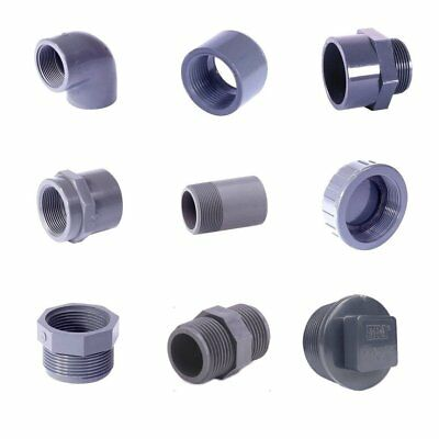 "Plain to BSP Thread & BSP Threaded PVC Fittings. Imperial sizes 1/2"" - 2""."