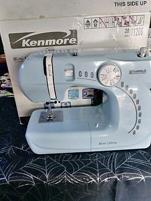 Kenmore Sewing Machine 4040 Blue Travel MINI ULTRA Small NEW Classy Blue Kenmore Sewing Machine