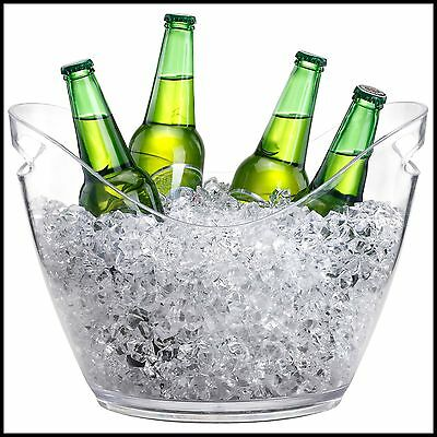 Large Ice Cooler Beer Bucket Clear Acrylic 7.5L Drinks Wine Summer Party