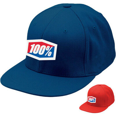 100% Racing Essential Fitted Caps Baseball Style Mens Casual Hats