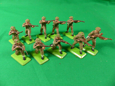 11x Britains Deetail British Infantry Soldiers / Soldaten
