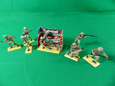 Britains Deetail British 8th Army Full Set + Machine Gun Playset - NOS