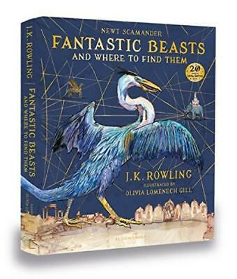 Fantastic Beasts and Where to Find Them: Illustrated Edition Hardcover Book New