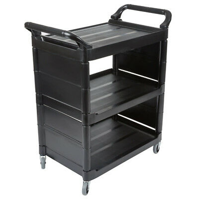 Rubbermaid Black Bussing Cart with End Panels L x 18.6-in. W x 36.6-in.