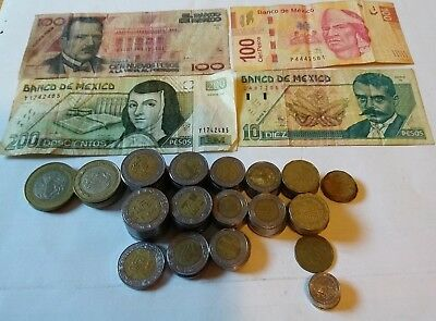 719.30 Mexico Pesos coins and banknote lot