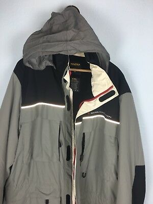 Vintage Nautica Competition Fullsize Jacket With Hide Away Hoodie Sz XXL Fits XL
