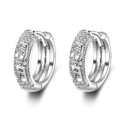 FASHIONS FOREVER® 925 Sterling Silver Music Notes Cubic Zirconia Hoop Earrings