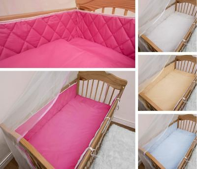 Quilted COT BUMPER 2-Sided Protector Large Bars All Baby Cots CotBed