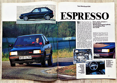 3290) VW Polo G40 Test in Zeitung Gute Fahrt 1991 & Golf G60 syncro
