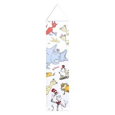 Trend Lab Dr. Seuss Friends Canvas Growth Chart, Blue/Red/Yellow/Gray/White