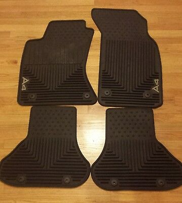 Audi a4 floor mats with logo