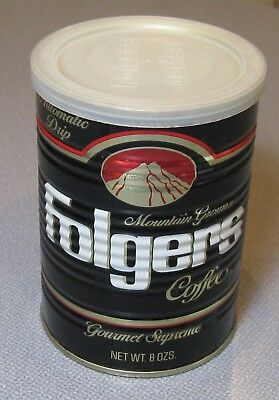 70's Folger's Coffee 8 Oz CAN Tin Full Sealed Gourmet Supreme Automatic Drip