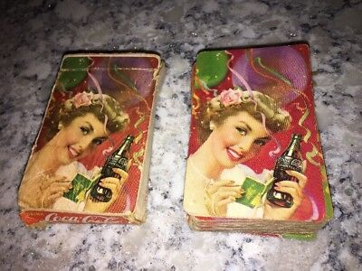 Vintage 1944 Coca Cola Playing Cards Party Girl Complete Set Deck Gamble