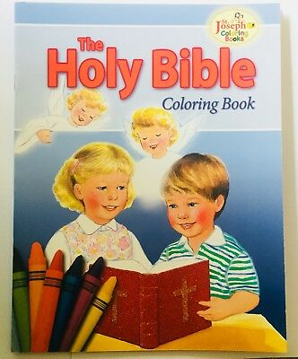 """""""The Holy Bible"""" - Children's Catholic Colouring Book"""