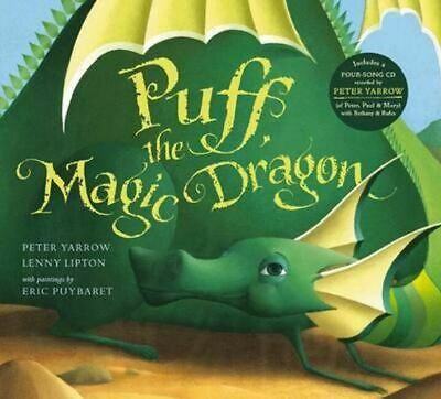 NEW Puff, The Magic Dragon + CD By Peter Yarrow Book with Other Items