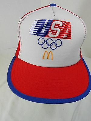Vintage McDonald's Hat Cap Adjustable Snapback 1984 Olympics Collectible New