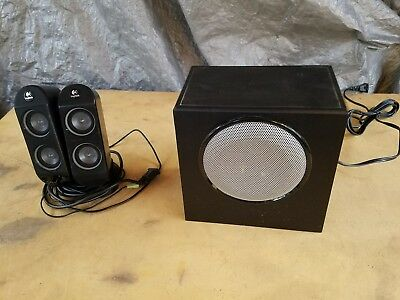 LOGITECH X-230 Black 2.1 Channel Computer Speakers With Subwoofer