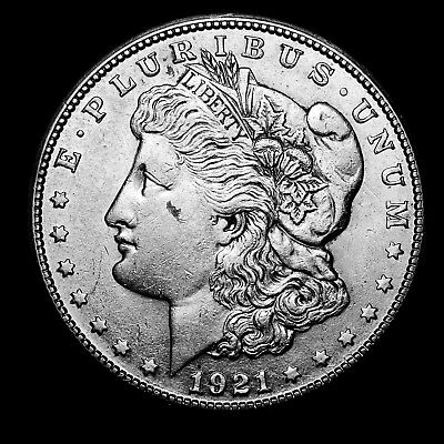 1921 S ~**ABOUT UNCIRCULATED AU**~ Silver Morgan Dollar Rare US Old Coin! #3F