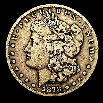 1878 S ~**1ST YEAR ISSUE**~ Silver Morgan Dollar Rare US Old Antique Coin! #J100