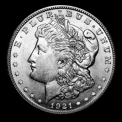 1921 S ~**ABOUT UNCIRCULATED AU**~ Silver Morgan Dollar Rare US Old Coin! #314